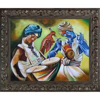 Neeraj Parswal 'Celebrations' Fine Art Print on Canvas