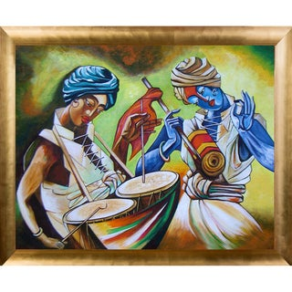 Neeraj Parswal 'Celebrations' Fine Art Print on Canvas