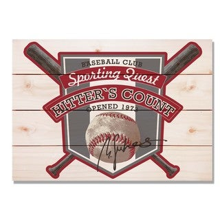 Hitter's Count Club 20x14 Indoor/Outdoor Full Color Cedar Wall Art