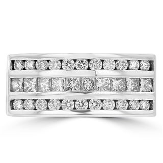 La Vita Vital 14K White Gold Men's Diamond Ring 1.55ct TDW