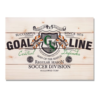 Goal Line Soccer 20x14 Indoor/Outdoor Full Color Cedar Wall Art