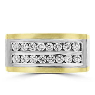 La Vita Vital 14k Yellow and White Gold Men's 3/4ct TDW Diamond Ring