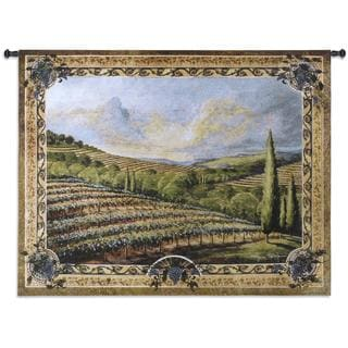 Fine Art Tapestries 'Napa Valley II' Multicolored Cotton Wall Tapestry
