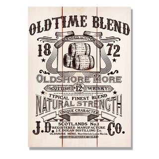 Old Time Blend 11x15 Indoor/Outdoor Full Color Cedar Wall Art