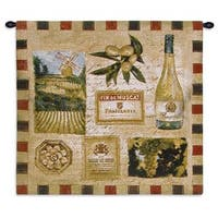 Fine Art Tapestries 'From The Wine Land II' Multicolored Cotton Wall Tapestry