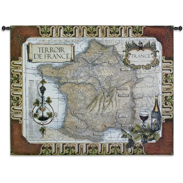 Fine Art Tapestries 'French Wine Country' Cotton Wall Tapestry