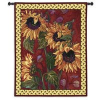 Fine Art Tapestries French Sunflower II Cotton Wall Tapestry