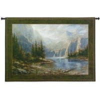 Fine Art Tapestries 'Mountain Heights' Multicolored Cotton Wall Tapestry