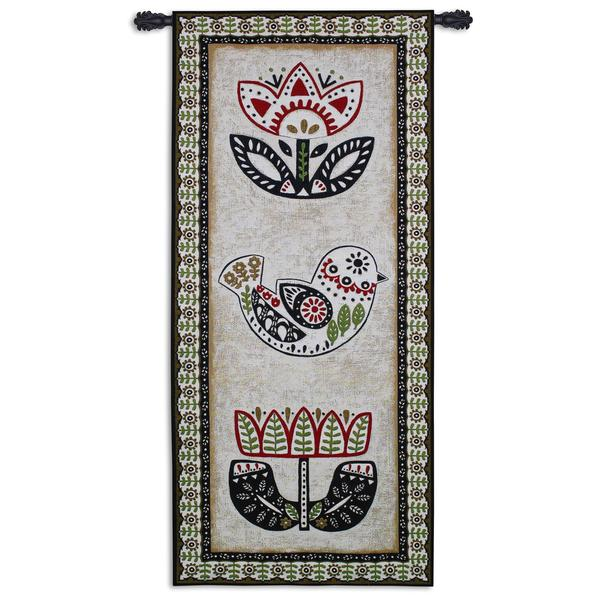 Fine Art Tapestries 'Folk Song' Multicolored Cotton Wall Tapestry