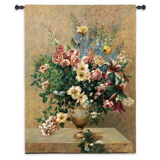 Fine Art Tapestries Morning Blossoms Cotton Wall Tapestry