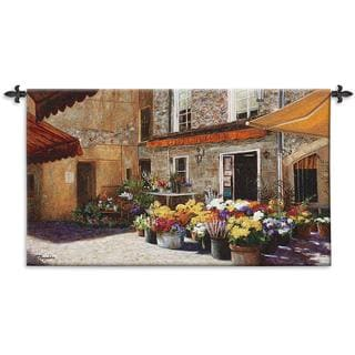 Fine Art Tapestries Flower Shop Cotton Wall Tapestry