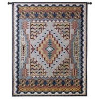Fine Art Tapestries Southwest Turquoise Small Cotton Wall Tapestry