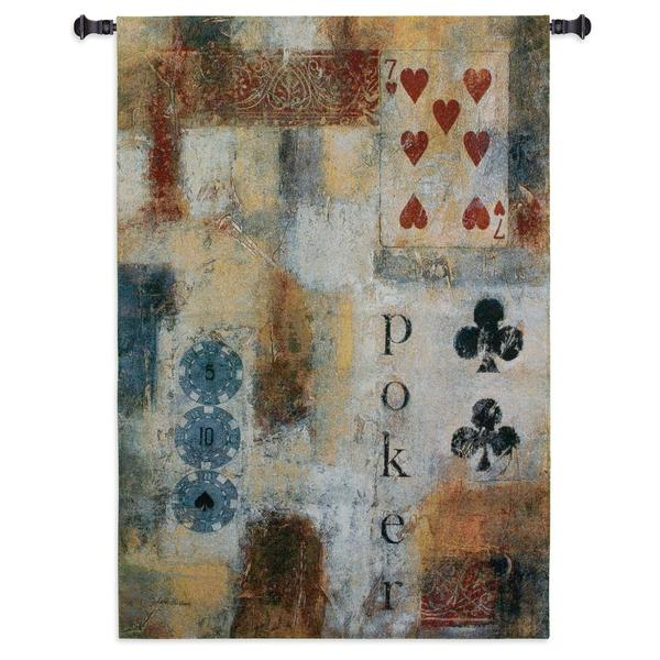 Fine Art Tapestries 'Poker' Abstract Wall Tapestry