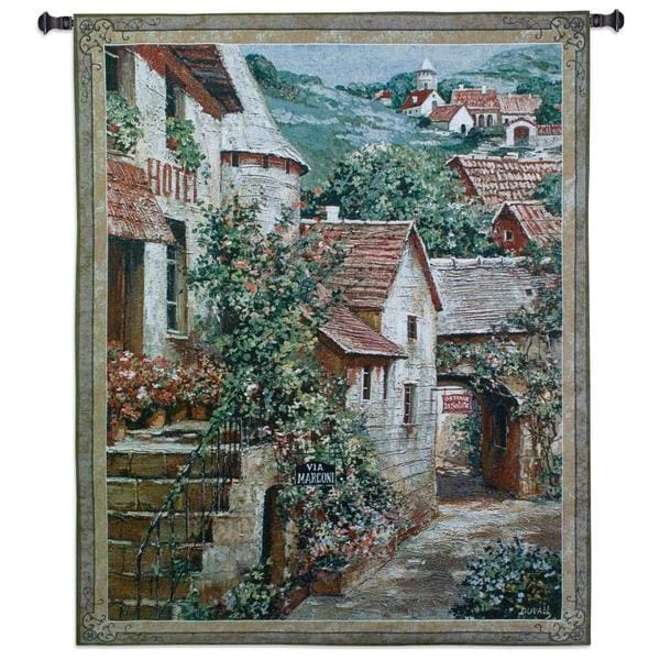 Fine Art Tapestries 'Italian Country Village I' Large Wall Tapestry