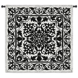 Iron Work Black and White Wall Tapestry