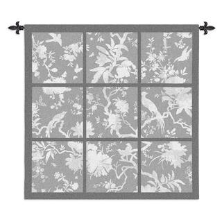 Fine Art Tapestries 'Floral Division' Grey Cotton Large Wall Tapestry