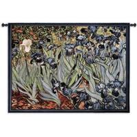 Fine Art Tapestries 'Irises Van Gogh' Multicolored Cotton Wall Tapestry