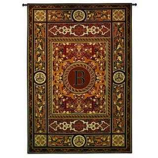Fine Art Tapestries 'Monogram Medallion B' Wall Tapestry