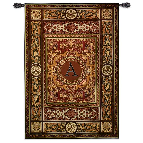 Fine Art Tapestries Monogram Medallion A Cotton Wall Tapestry
