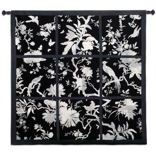 Fine Art Tapestries Floral Division Black and White Small Wall Tapestry
