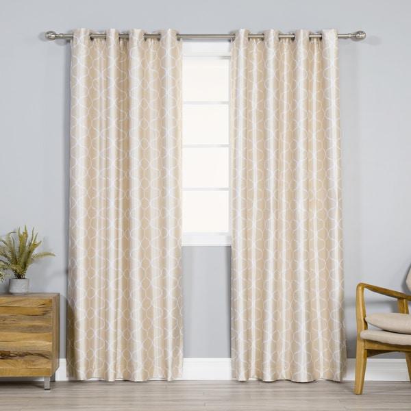 Aurora Home Faux Silk Quatrefoil Blackout Curtains - 52 x 84 - 52 x 84. Opens flyout.