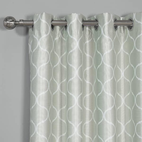 Faux Silk Quatrefoil Blackout Curtains