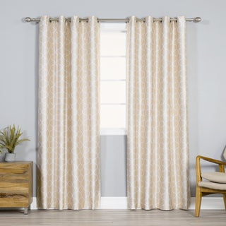 Exclusive Fabrics Magdelena Champagne Faux Silk Jacquard Curtains