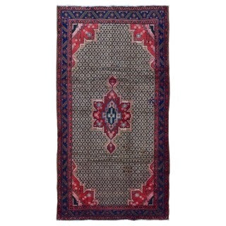 FineRugCollection Hand Made Hamadan Beige Wool Oriental Rug (5'2 x 9'11)