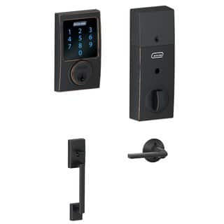 Schlage BE469CEN716 Touchscreen Deadbolt with Alarm & Lever in Aged Bronze|https://ak1.ostkcdn.com/images/products/14267813/P20854599.jpg?impolicy=medium