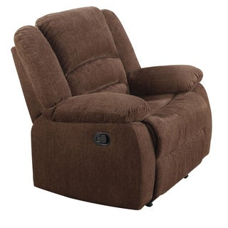 Acme Furniture Bailey Brown Chenille Fabric Rocker Recliner