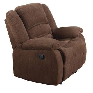 Acme Furniture Bailey Brown Chenille Fabric Rocker Recliner
