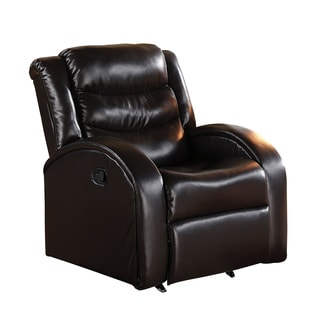 acme furniture noah espresso bonded leather rocker recliner - Leather Rocker Recliner
