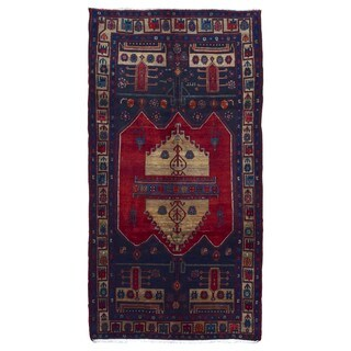 FineRugCollection Hand Made Hamadan Beige Wool Oriental Rug (4'5 x 10'2)