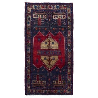 FineRugCollection Handmade Hamadan Beige Wool Oriental Rug (4'5 x 10'2)