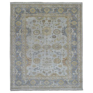 FineRugCollection Hand Knotted Oushak Beige Wool Oriental Rug (8'3 x 9'10)