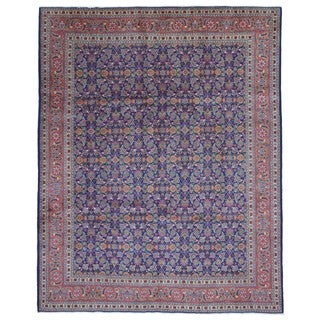 Fine Rug Collection Hand-knotted Semi-antique Persian Kashan Wool Oriental Rug (8'11 x 10'9)