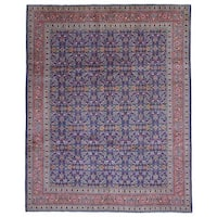 FineRugCollection Hand-knotted Semi-antique Persian Kashan Wool Oriental Rug (8'11 x 10'9)