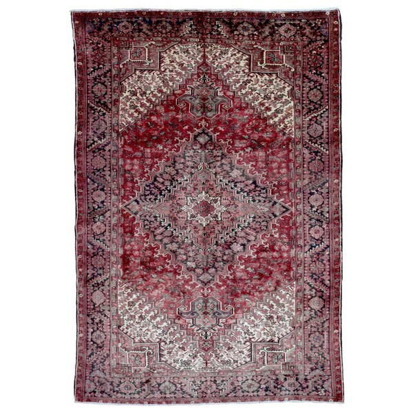 Hand Knotted Heriz Wool Fine Persian Oriental Area Rug: Shop FineRugCollection Hand-knotted Semi-antique Persian