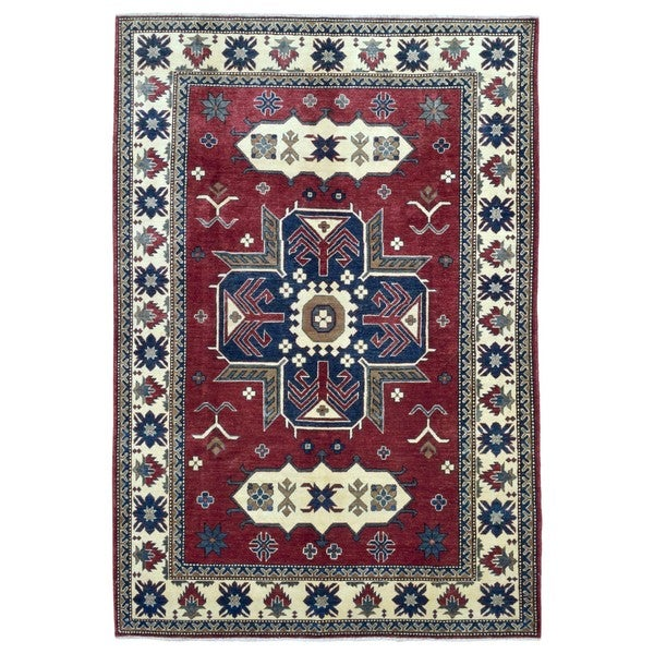 Shop FineRugCollection Hand-knotted Pakistan Kazak Red