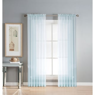 Window Elements Diamond Sheer Voile 56 x 84 in. Rod Pocket Curtain Panel - 56 x 84