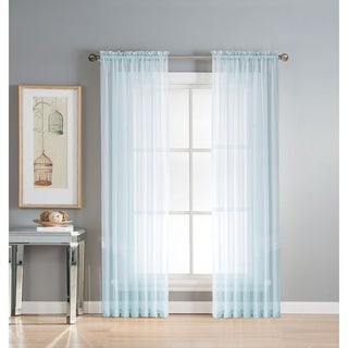 Window Elements 84-inch Diamond Sheer Voile Extra-wide Curtain Panel - 56 x 84