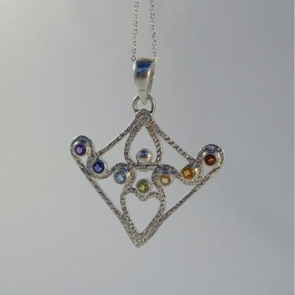 Shop Handmade Small Sterling Silver Chakra Goddess Necklace