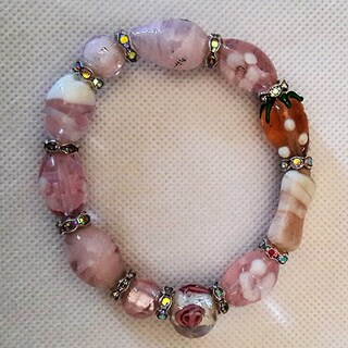 Women's Fashion Lampwork Beaded Bracelet