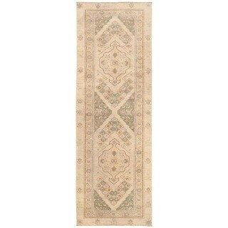 Herat Oriental Afghan Hand-knotted Vegetable Dye Bakhshayesh Wool Runner (3'2 x 9'5)