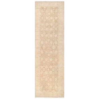 Herat Oriental Afghan Hand-knotted White Wash Oushak Wool Runner (5'10 x 18'9)