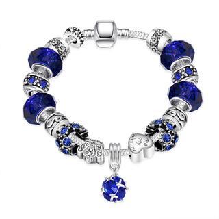 Hakbaho Jewelry Snake Chain Aqua Blue Bracelet|https://ak1.ostkcdn.com/images/products/14268145/P20854900.jpg?impolicy=medium
