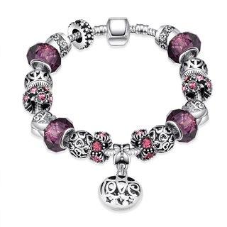Silverplating Purple Fusion Bracelet