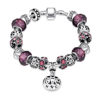Hakbaho Jewelry Silverplating Purple Fusion Bracelet|https://ak1.ostkcdn.com/images/products/14268147/P20854902.jpg?impolicy=medium