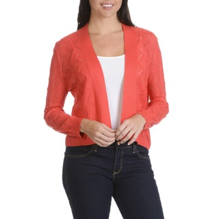 89th Madison Women's Pointelle Shrug (4 options available)