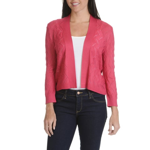 89th Madison Women's Pointelle Shrug